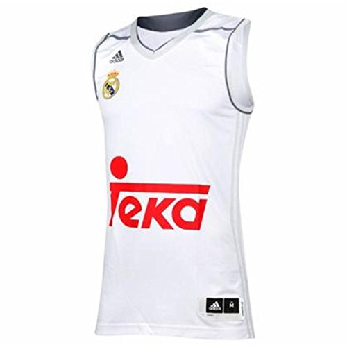 adidas Men s Real Madrid Replica Basketball Home 2015-2016 Jersey  Grey White GRICLA Onix 4ca060624765f