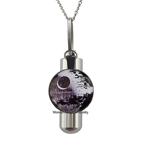 Waozshangu Art Glass URN,Star Inspired Star URN Cremation URN Necklace,Star Jewelry,Wedding Jewelry Glass Jewelry,PU126