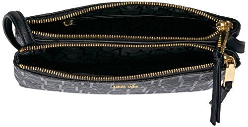 Emboss Klein Crossbody Gold Freda Black Patent Zip Calvin Top 4XxYwxdq