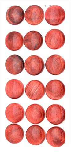 - Red Spiney Oyster 14mm Round Calibrated Cabochon Stone (pkg of 2 cabs)