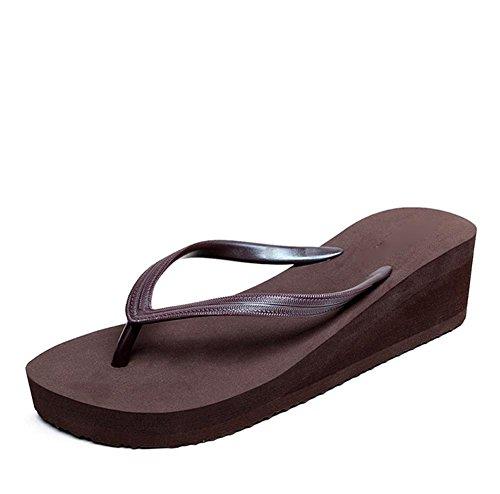 RuiSommer-Strand-Schuhe Damen-Charakter-Pantoffeln Hang Ferse dicke Sandalen 2