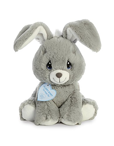 Aurora World Precious Moments Plush Floppy Bunny, Grey