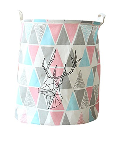 Large Sized Storage Baskets with Handle,Collapsible & Convenient Home Organizer Containers for Kids Toys,Baby Clothing(colour triangle)