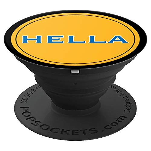 (Hella Bay Area SF Oakland World Champs Handle Gift - PopSockets Grip and Stand for Phones and Tablets)