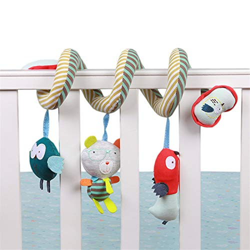 Infant Spiral Activity Stroller Car Seat Hanging Mobiles Toys Cute Owl Bed Around High-Quality Cloth Bed Bell Baby Rattle Toys LXT&YY