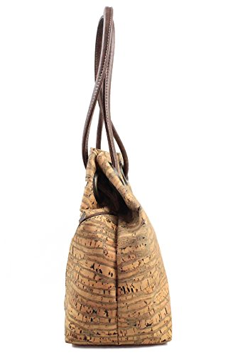 Dux Cork - Bolso estilo bolera para mujer cebra
