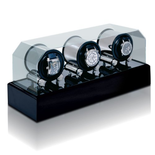 Futura 3 Black Lacquer Watch Winder by Orbita Model W34004