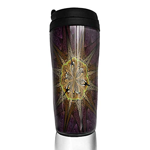 coffee cups with lids Beautiful Symmetrical fractal mandala flower or butterfly digital artwork for creative graphic design Computer generated graphics 1116 12 oz,a gift personalized for fathers day