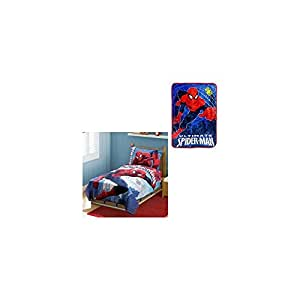Amazon.com : Marvel Spiderman 4Pc Toddler Bedding Set With ...