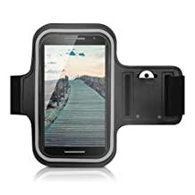kwmobile sport armband for Motorola Moto X Play jogging running sport bag fitness band with key compartment in the sport armband in black