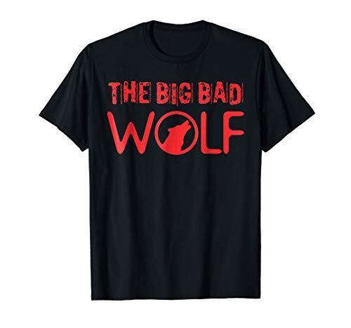 Mens The Big Bad Wolf Graphic Tee Shirt - Halloween Literary Fun XL Black