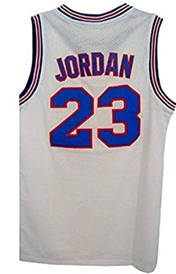 Kids Space Jam #23 Michael Jordan Basketball Jersey Youth, New Arrival Kids Tune Squad Jersey Looney Toones (White, Youth Medium)