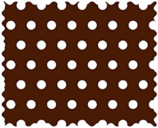 product image for SheetWorld 100% Cotton Percale Fabric by The Yard, Polka Dots Brown, 36 x 44