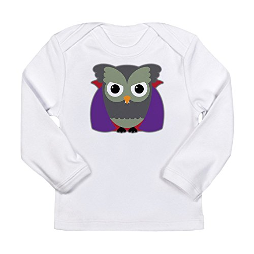 Truly Teague Long Sleeve Infant T-Shirt Spooky Little Owl Vampire Monster - Cloud White, 18 To 24 Months -