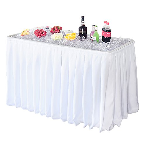 Modern Home 4' Party Ice Bin Table with Skirt