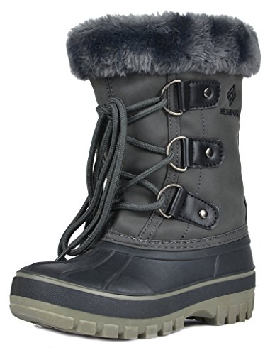 DREAM PAIRS Little Kid Forester Grey Ankle Winter Snow Boots Size 1 M US Little Kid