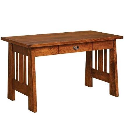 Enjoyable Amazon Com Open Freemont Amish Desk Rustic Cherry Wood Home Interior And Landscaping Transignezvosmurscom