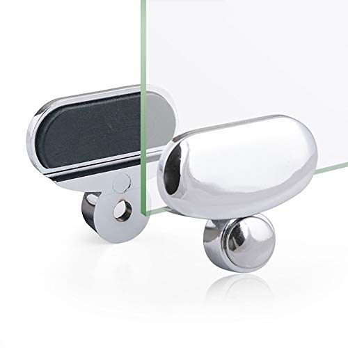 HoTaste 8Pcs Zinc Alloy Mirror Floating Glass Clip Set Wall-Mounted Mirrors Bracket/Clip -