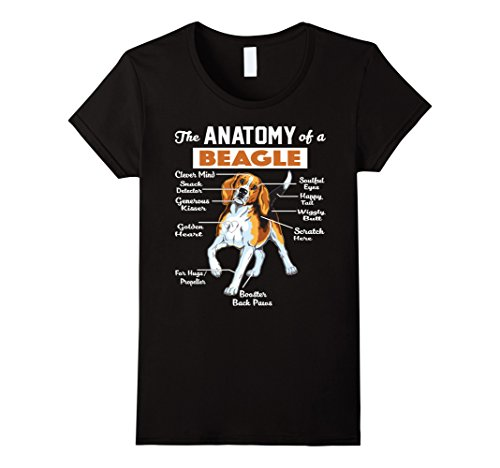 Womens The Anatomy Of A Beagle Shirt Medium Black