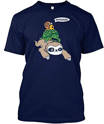 (Wheeeeee 5XL - Navy Tshirt - Hanes Tagless Tee)