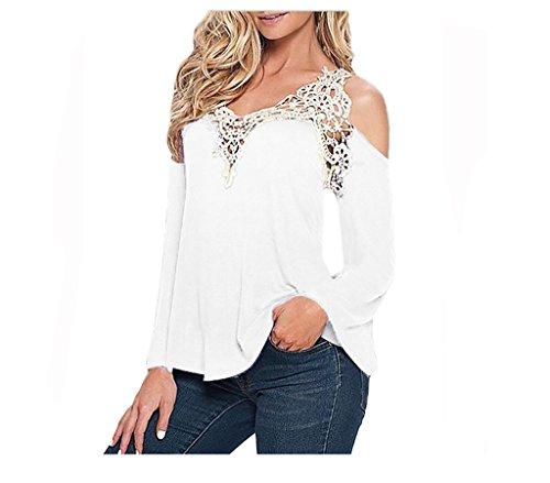 WSLCN - Camiseta de manga larga - Básico - Manga Larga - para mujer blanco