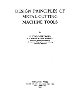 Machine Tool Design Book