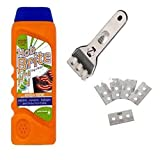 Universal Hob Scraper + 5 Replacement Blades + Hob Brite Ceramic Hob Cleaner
