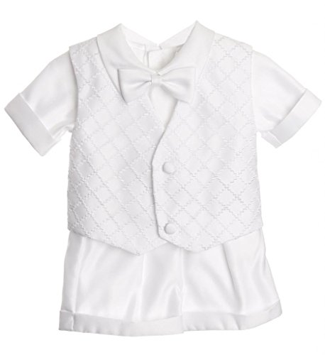 (iGirlDress Baby Toddler Boys Christening Short Sleeve Set 0-3mos)