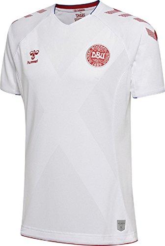 - Hummel Sport Hummel Danish National Soccer Team Short Sleeve Away Jersey, White, XX - Large