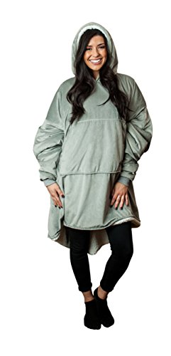 The Comfy The Blanket… That's a Sweatshirt, One Size Fits Most, Soft Snuggly and Comfortable Blanket Sweatshirt Originally Featured on Shark Tank, Grey Color by The Comfy