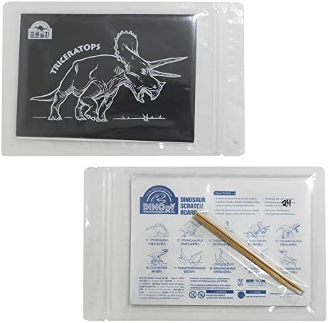 DINORY Scratch Art for Kids & Adults Dinosaur Scratch Set 102 (10 Dinosaurs)