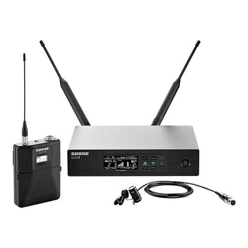 Shure QLXD14/85 Lavalier Wireless Microphone System, H50/534-598MHz, Includes QLXD1 Bodypack Transmitter, QLXD4 Receiver, WL185 Lavalier Condenser Mic