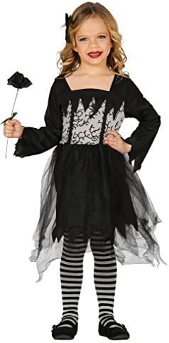 Fancy Me niña Gótico Muñeca Muerto Novia Bruja Viuda Negra Disfraz ...