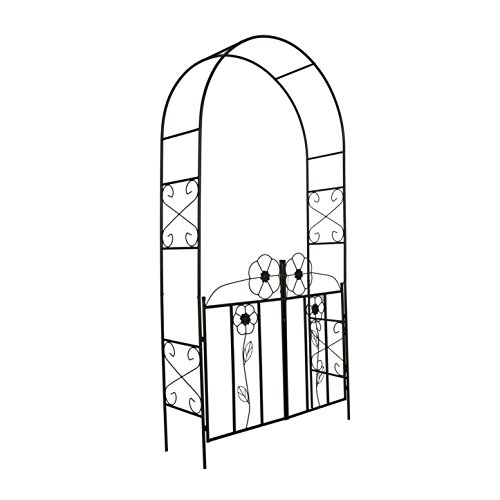 Better Garden Steel Garden Arch with Gate, 7'7