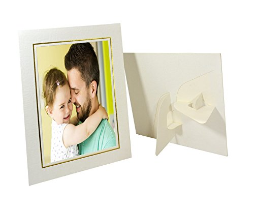 Golden State Art, Pack of 25, Cardboard Photo Easel Frame for 4x6 Photo, Ivory ()