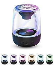 TEKER Bocina Bluetooth 5.0 Portátil, Altavoz Bluetooth Sonido Estéreo con Luz RGB 5W 1000mAh, Mini Altavoz Bluetooth TF AUX Función TWS, Bluetooth Speaker para iPhone, Android, iPad, Tablet