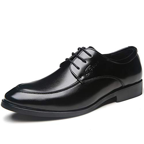 Mens Black Dress Shoes Pointed Toe Classic Formal Oxford Shoes by Phil Betty (Image #7)