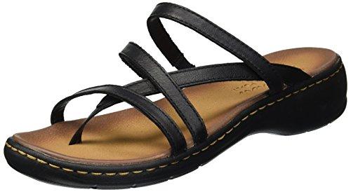 (Skechers Women's Passenger-Quatre-Multi-Strap Slide Thong Flip-Flop Black 6 M US)
