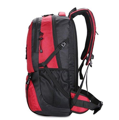 De gran capacidad exterior de la mochila del bolso de hombro de los hombres y las mujeres se trasladan a pie , black Black