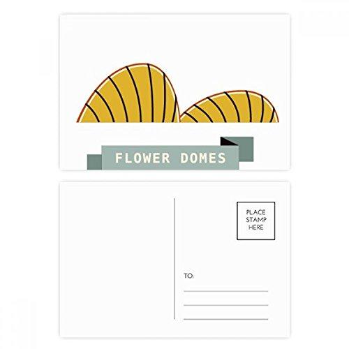 Postcard Dome - Singapore Flower Domes Landmark Postcard Set Birthday Thanks Card Mailing Side 20pcs