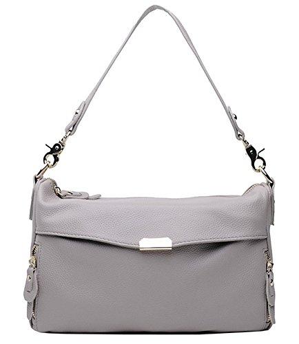 Spalla Primo Bags Crossbody Saierlong Grigio Di Nuovo Borse Messenger Cuoio Donna Strato wqtt8xnZC