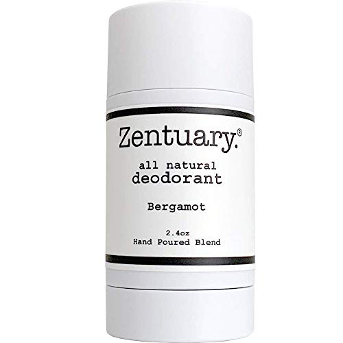 Zentuary Aluminum-Free Natural Deodorant (Bergamot) It Works All Day! | Nothing Bad, Only All-Natural Ingredients | Naturally Eliminate Underarm Order | Good For All Humans (Best Deodorant For Strong Body Odor)