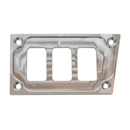STV Motorsports Custom Aluminum Lower Left Side Dash Panel for Polaris RZR XP 1000 with 3 Switch Openings (no switches included) (Side By Side Custom Panel)