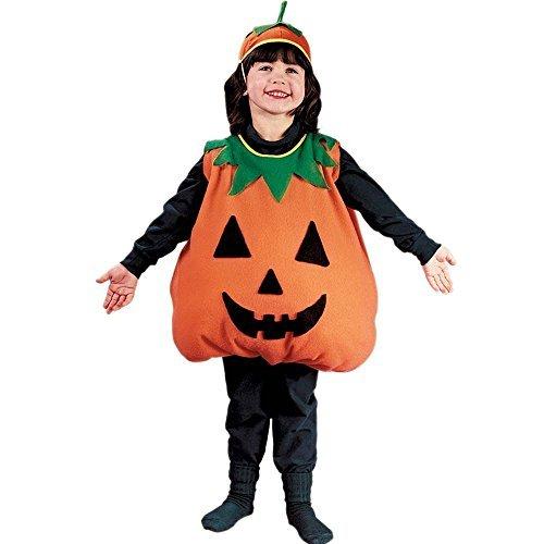Pumpkin Costume For Toddler Boy (Fun World Plump Pumpkin Toddler Costume, Large 3T-4T,)