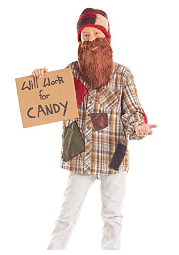 Hobo Costumes Kids (Big Boys' Will Work For Candy Hobo Costume Small)