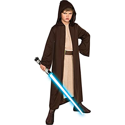 Rubies Star Wars Classic Child's Hooded Jedi Robe, Medium: Toys & Games