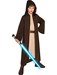 Rubies Costume Co Star Wars Child's Hooded Jedi Robe, Medium (size 8-10)