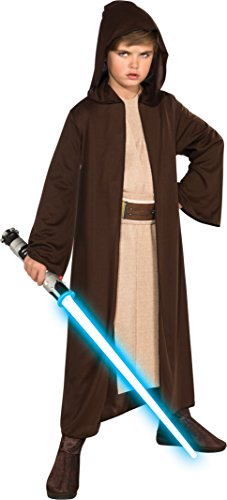 Rubies Star Wars Classic Child's Hooded Jedi Robe, Medium
