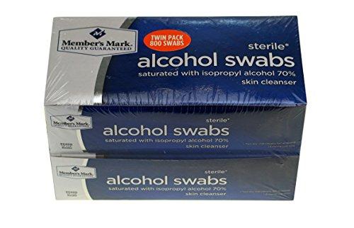 회원의 마크 멸균 알코올 면봉 트윈 팩:800 면봉
