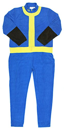 Bioworld Fallout 111 Mens Union Suit (Large) Blue -